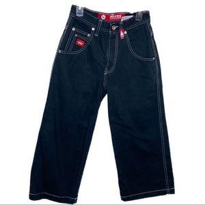 Vintage JNCO cropped wide leg jeans bulldog